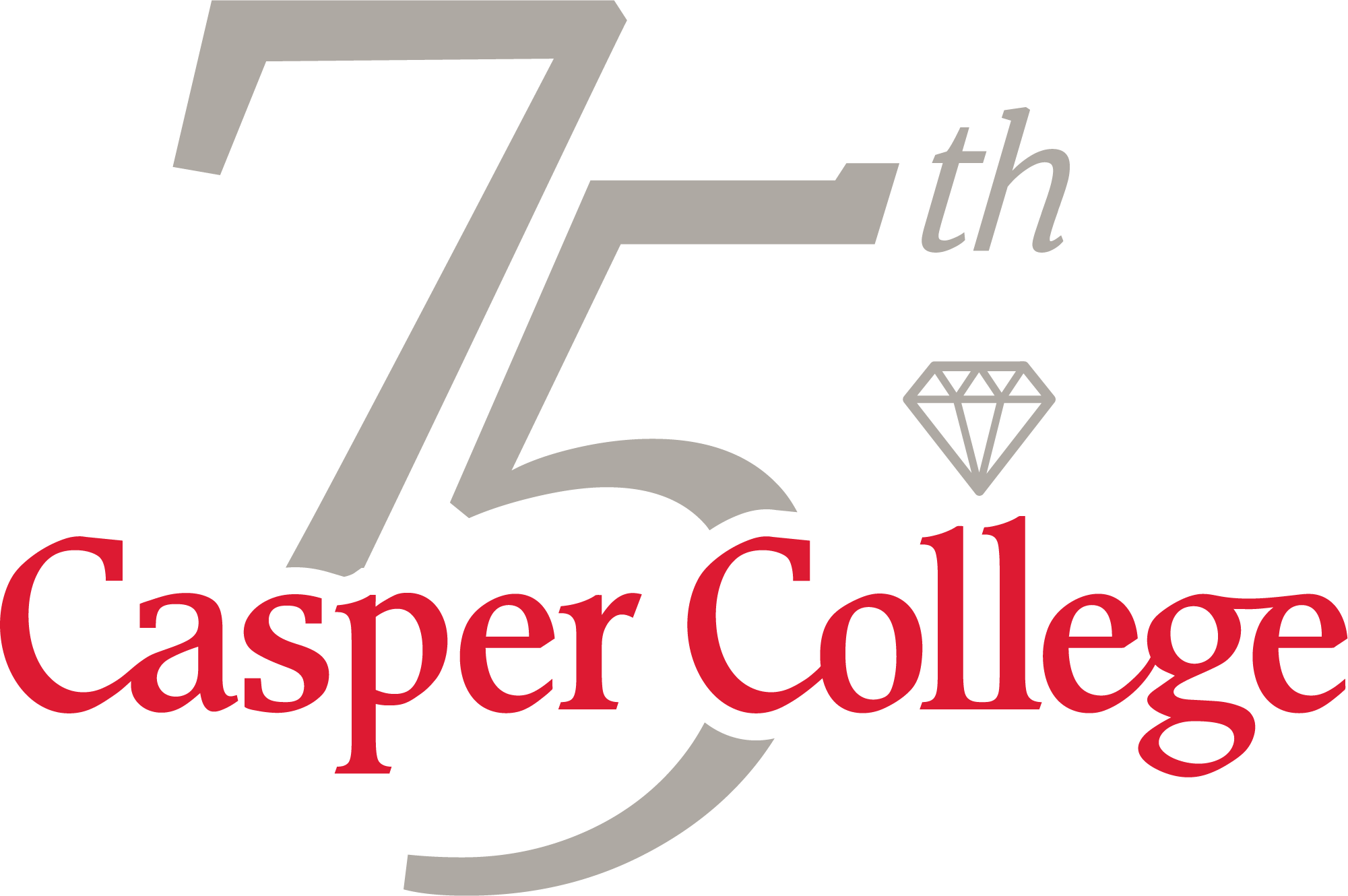 Casper College 75th Anniversary logo