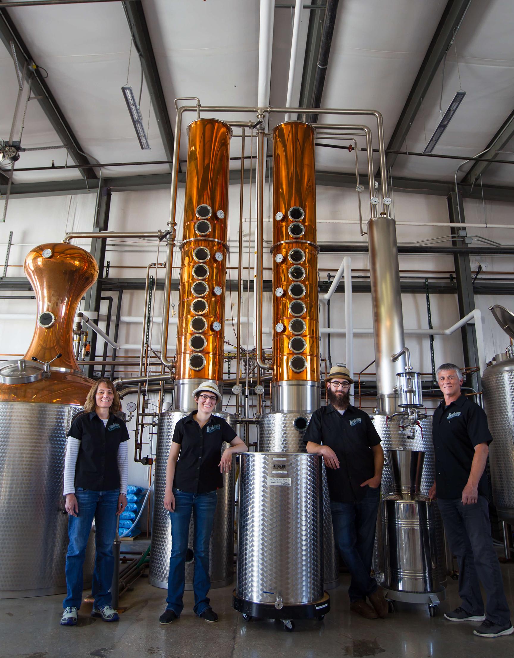Backwards Distilling group photo