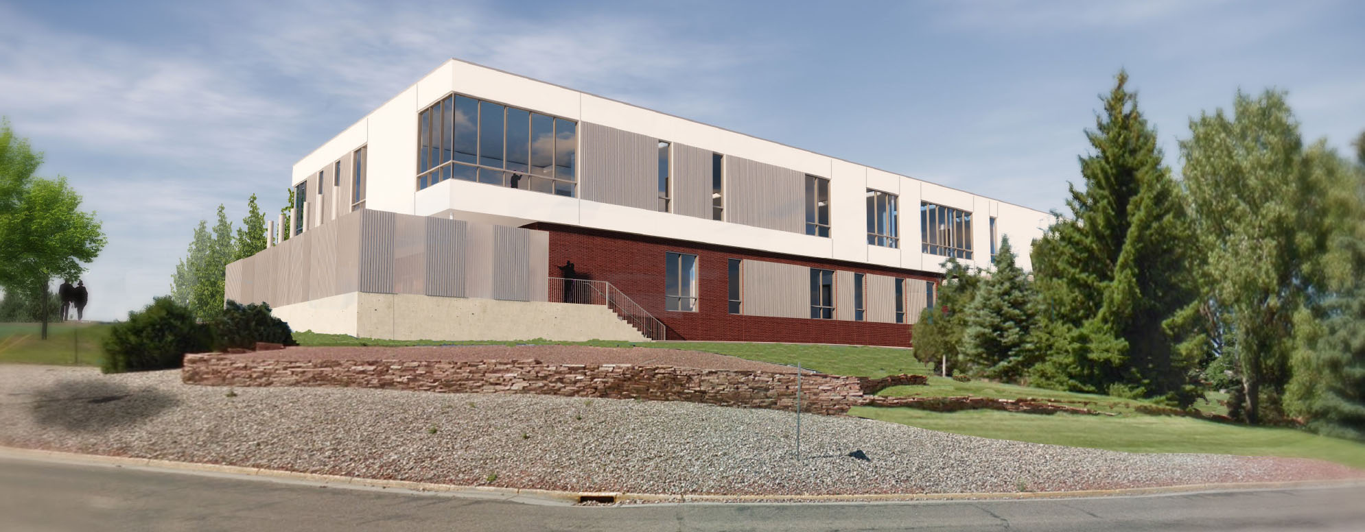 VA Bldg exterior concept image