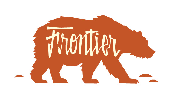 Frontier Brewing Company rust colored Logo