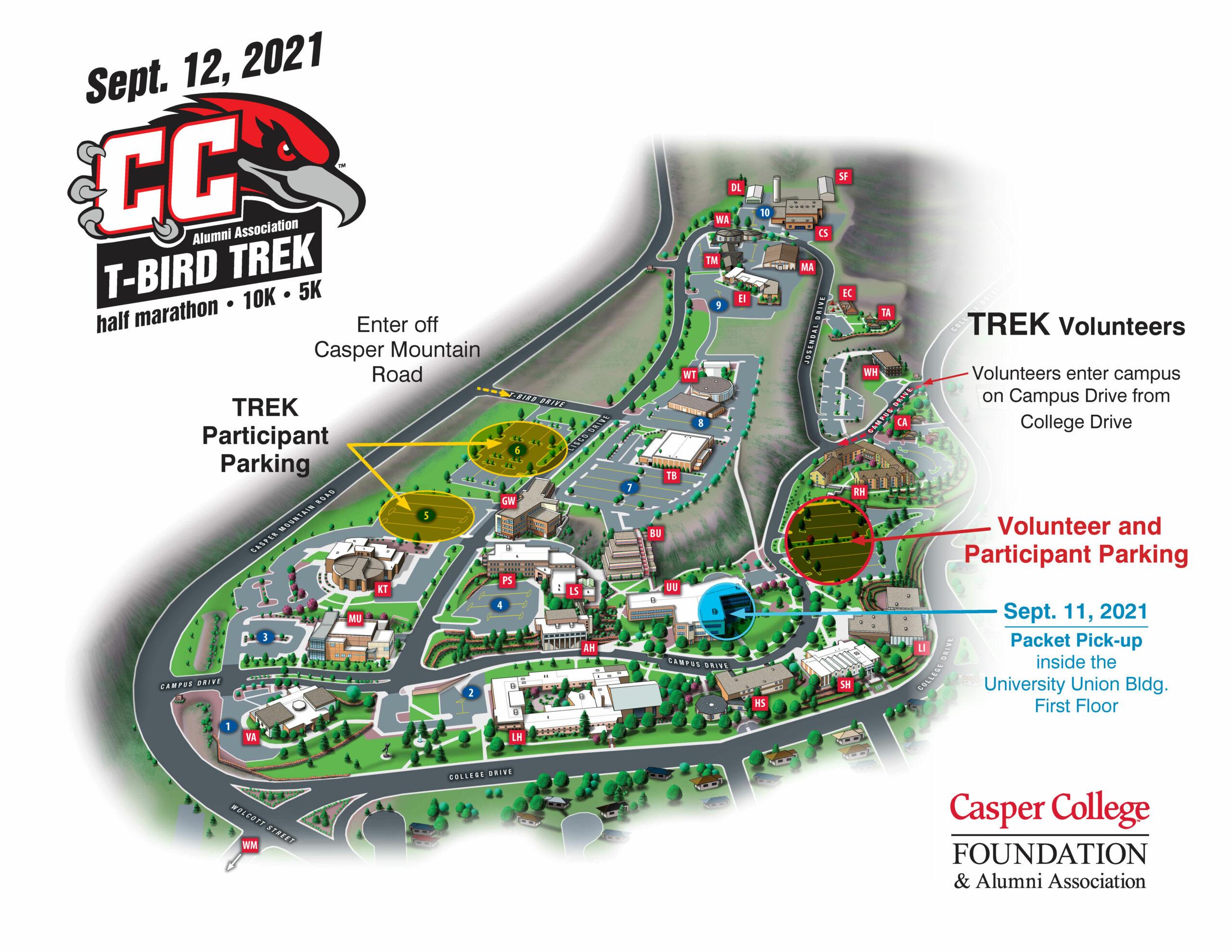 Trek Parking Map 2021 image